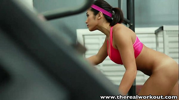 Asian tumbler angel Mia Li needs large dick after exercise