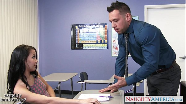Hot school high schooler Alaina Kristar against fat dick of her educator