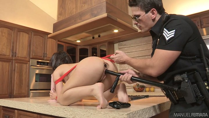 Filthy cop messes around with helpless butt nugget of Kristina Rose