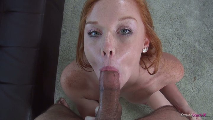 Cute redhead lady Alex Tanner shows what she has on projecting