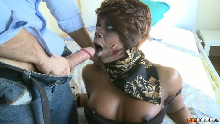 Courageous one peered toward officer screws the poo out of breathtaking black zombie Jasmine Webb