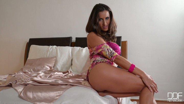 Romanian sex diva with grand DD boobs Sensual Jane in magnificent masturbation solo