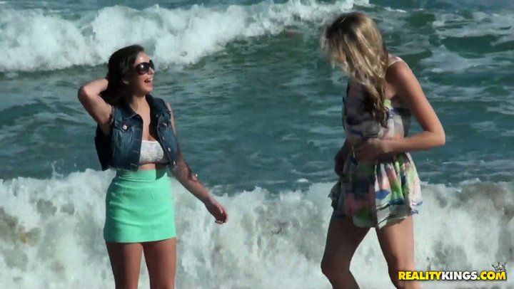 Sea shore walk and energetic lesbian sex with dazzling Shae Summers and Brianna Oshea