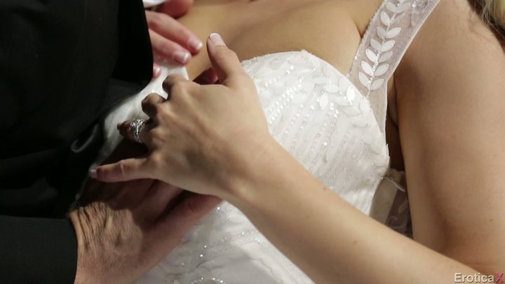 First wedding evening of warm lady Anikka Albrite and her studly groom