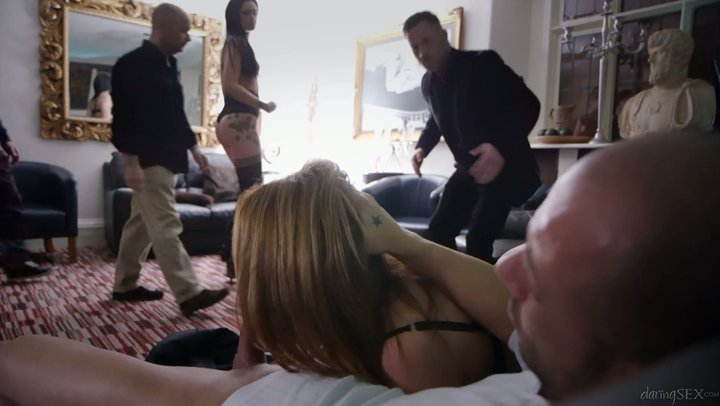 Hot gathering sex with breathtaking prostitute mothers Carly Gee and Sasha Kash
