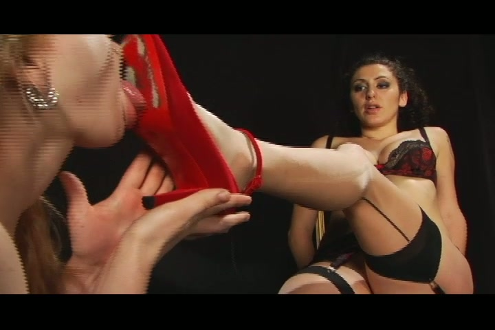 Unfathomably hot BDSM activity with special lady and her charming slave prostitute