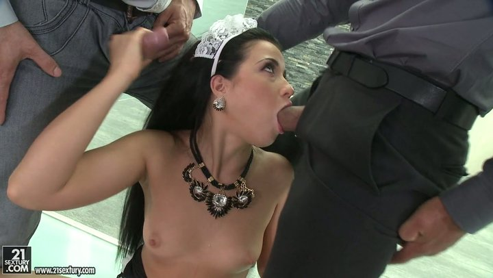 Flawless Russian angel Taissia Shanti is twofold joined and jizzed