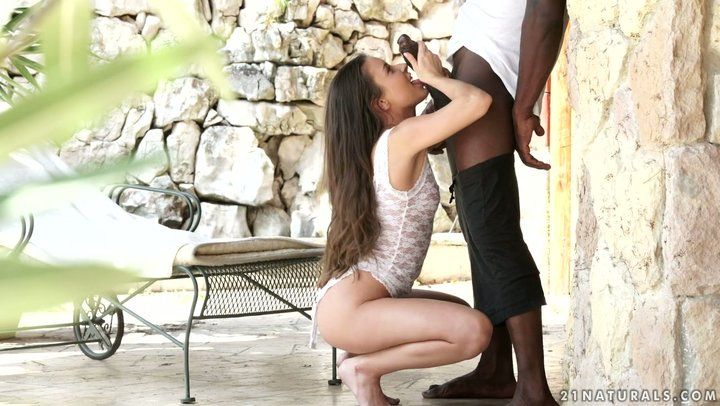 Abundant Euro young lady Anita Bellini accepts goliath dark dick with her butthole