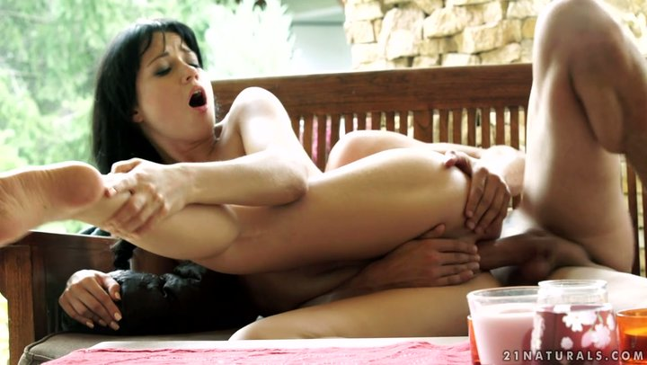 Charming Russian brunette young lady Taissia Shanti fucks with extraordinary enthusiasm