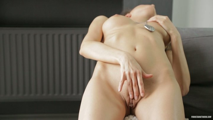 Russian young lady with perfect bends gives enticing performance