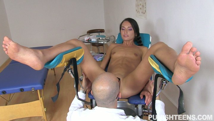 Pervy gynecologist butt screws Russian chick Nataly Gold in his office