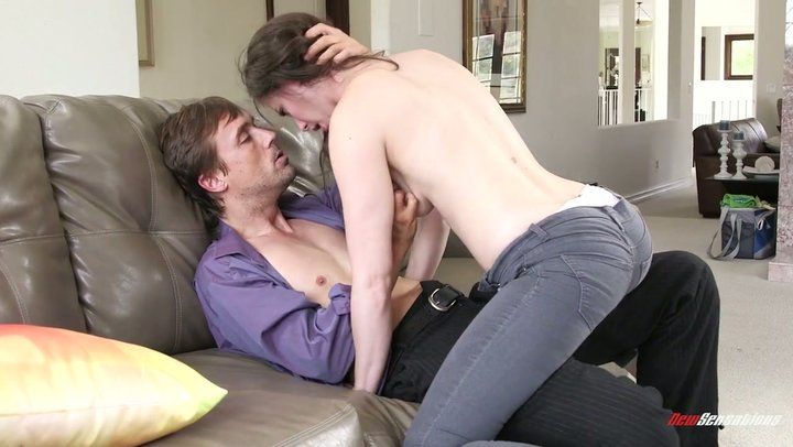Top caliber after work sex with heavenly angel Casey Calvert