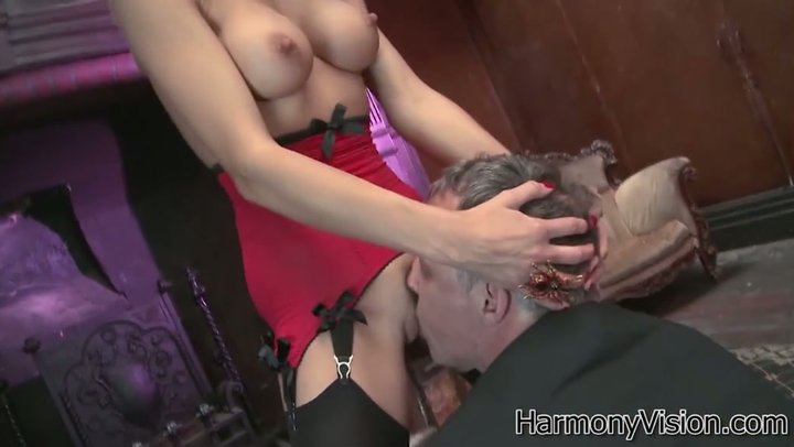 Honorable man visits to counterfeit boobed lady Franki Rider