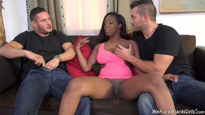 Stout dark lady Lisa Tiffian is utilized by two white companions of hers