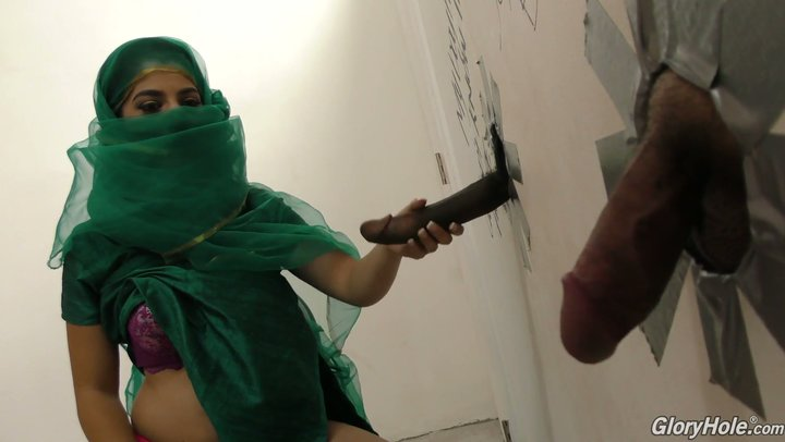 Pakistani prostitute with large boobs Nadia Ali VS BBC in gloryhole room