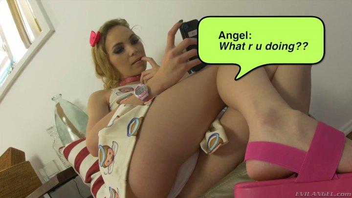 Unimposing slut Angel Smalls attaches with terrible perv